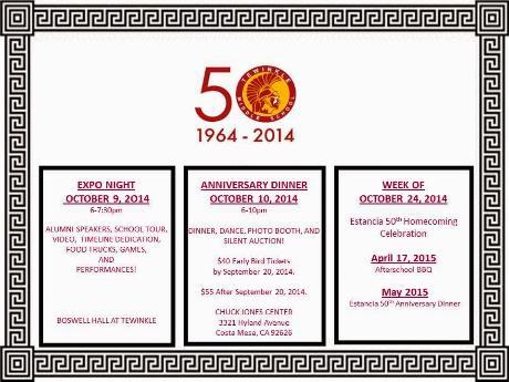 SAVE THE DATE - 50TH ANNIVERSARY