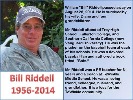 You will be missed, Mr. Riddell