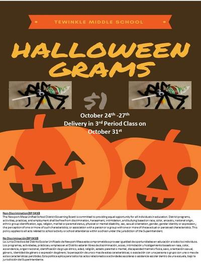 Halloween Grams For Sale!